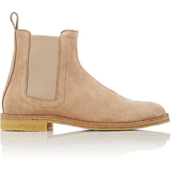 Bottega Veneta Men's Chelsea Boots (5,500 CNY) ❤ liked on Polyvore featuring men's fashion, men's shoes, men's boots, tan, mens tan chelsea boots, mens tan leather boots, mens slip on shoes, mens shoes and bottega veneta mens boots