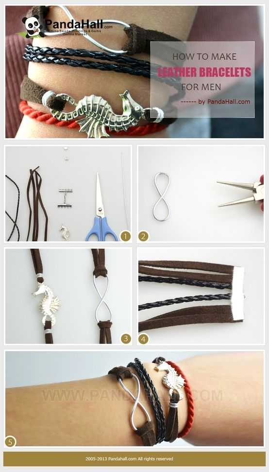 How to make leather bracelets for men with simple steps by wanting