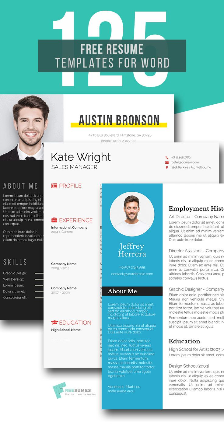 160 Free Resume Templates Instant Download Freesumes Free Resume Template Word Resume Template Free Resume Template Word