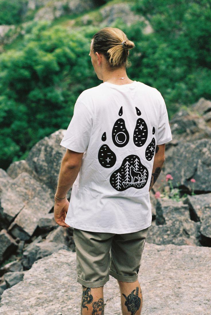 100% Cotton Wolf Paw Tee Illustrate