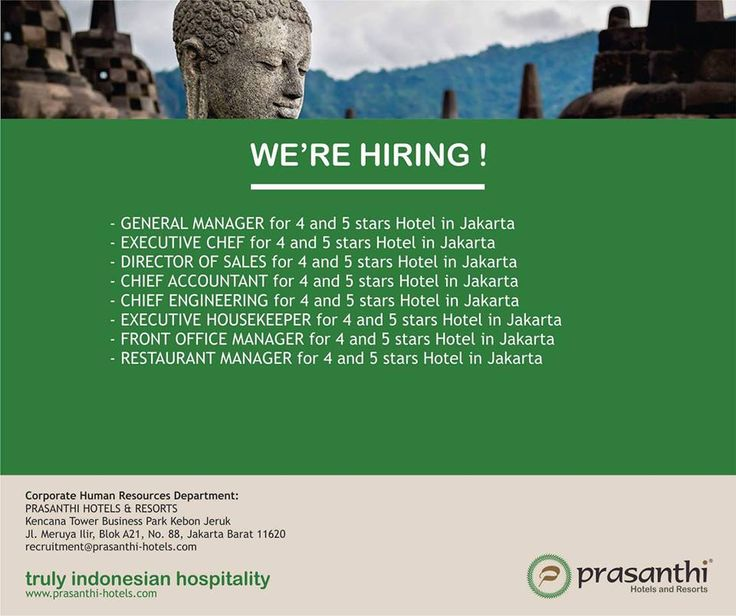 Prasanthi Hotel & Resort Need GM and Staff - Hotelier Indonesia Jobs