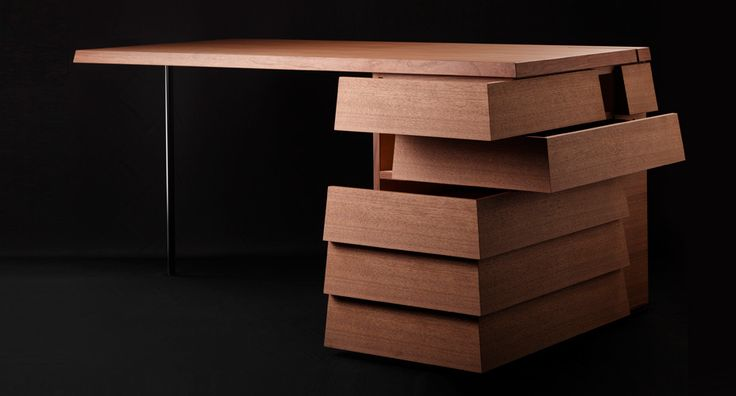 OFFICE: DESK       Cartesia Desk Tamo Tree -  COLORS. Desk drawers open from the front or the side.