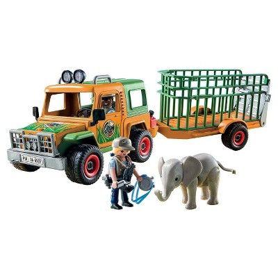 Playmobil Ranger's Truck with Elephant Playset