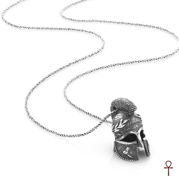 Silver Gladiator Helmet Pendant #pendant #silver #men #menstyle #gladiator #helmet