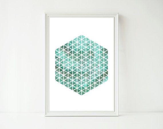 GEOMETRIC WALL ART  Instant Download  Art by DewdropsfromHeaven