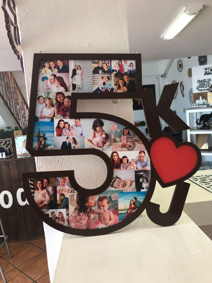Letra De Madera Con Fotos E Iniciales Con De Fotos Iniciales Letra Madera Diy Anniversary Gift Boyfriend Anniversary Gifts Diy Anniversary