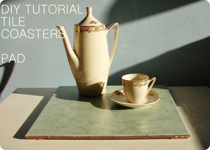 DIY TUTORIAL TEA COASTER..coaster tile..podkładka...