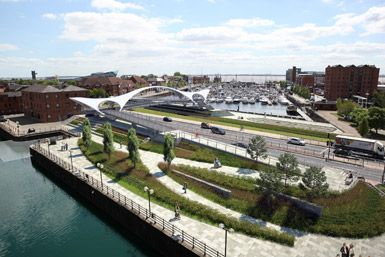 Pedestrian Bridge by McDowell+Benedetti in Hull, United Kingdom
