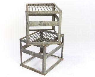 gegalvaniseerd staal krat kist opstapje/bijzettafeltje