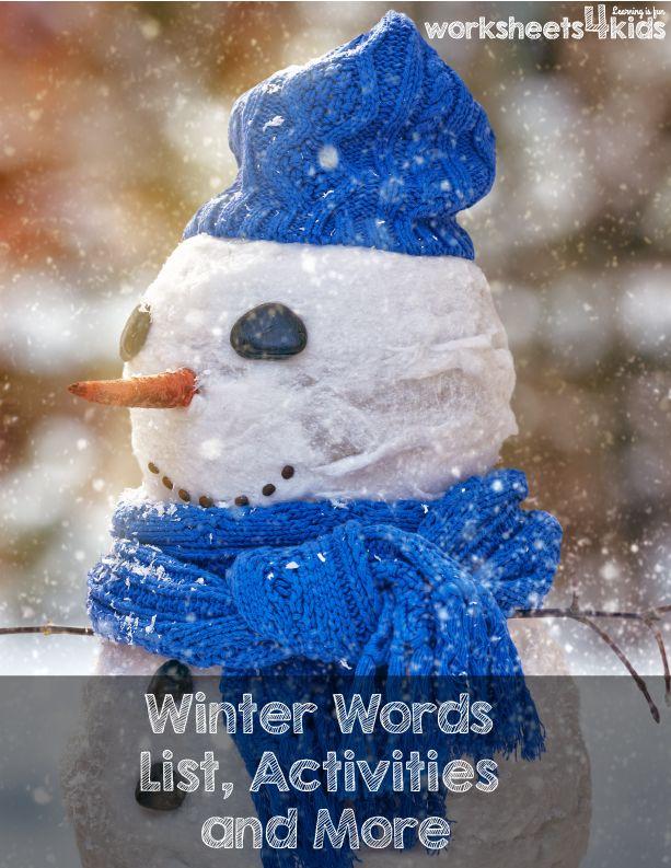 Best 16 Winter Worksheets - worksheets4kids ideas on Pinterest ...