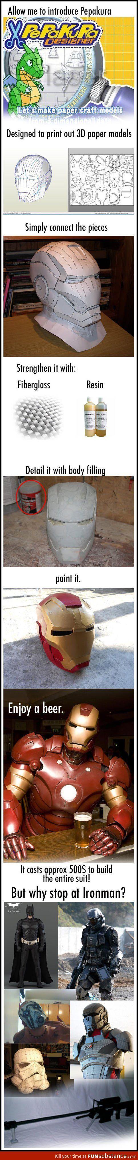 Make your own Iron Man suit @Virginia Kraljevic Allred