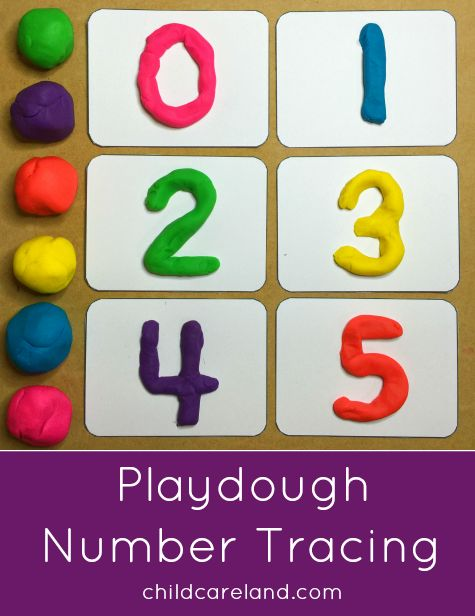 Playdough Number Tracing for fine motor and number identification.
