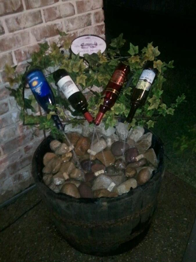 Water Bottle Drinking Fountain 10 Wine Bottle Fountain Diy Water Fountain Backyard Water Feature
