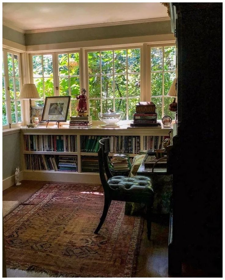 Beautiful Cozy Homes: 60+ Beautiful Home Office With Books And Windows (With