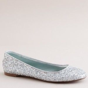 My mom will probably freak when I tell her I wanna wear silver sparkly flats at my wedding... don't care.