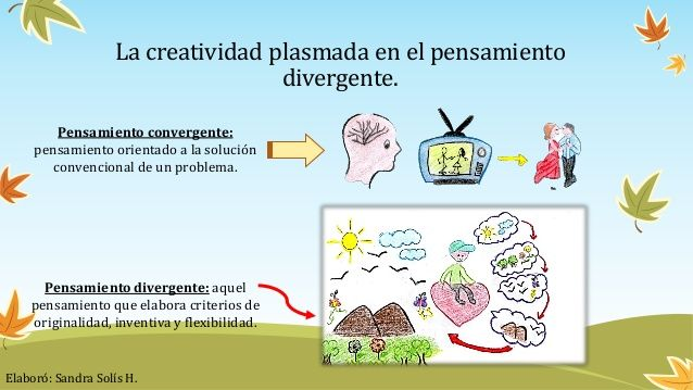 Presentación Con Los Conceptos De Pensamiento Divergente Pensamiento Convergente En La Creatividad Prezi School
