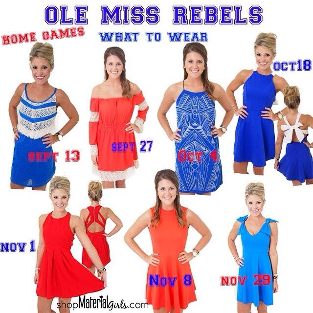 Ole Miss Game Day Schedule And What To Wear Red And Blue