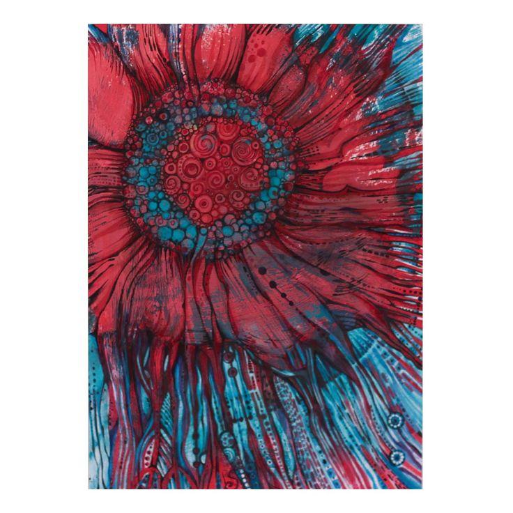 Malinowy kwiat, malinowy świat | Rysunek | 29,7 x 21 cm