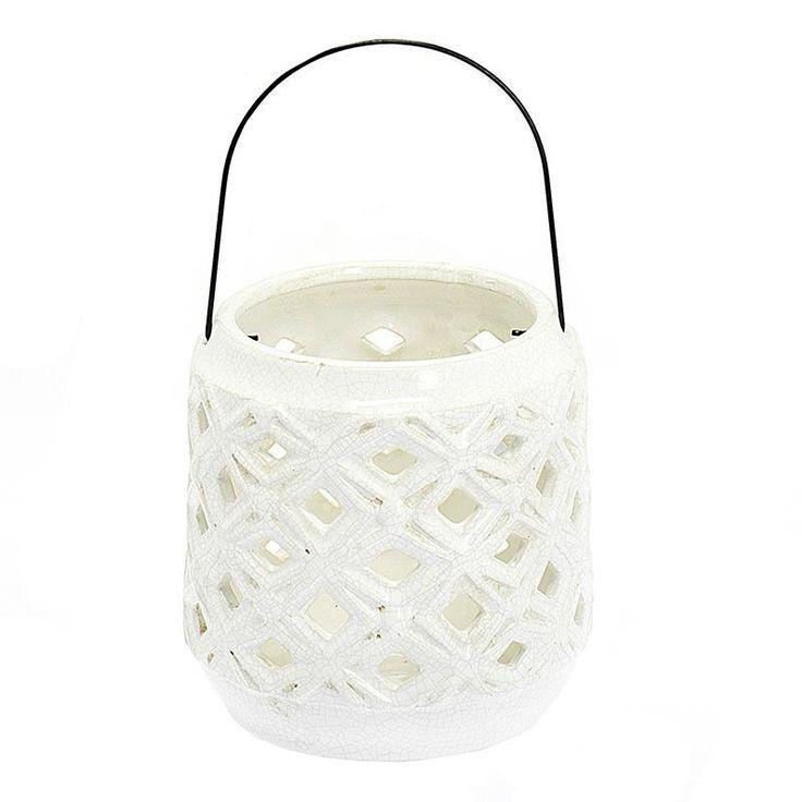 Φανάρι κεραμικό Λευκό http://www.lovedeco.gr/p.Fanari-keramiko-Leyko.894202.html