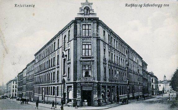 Christiania Kristiania Rathkesgt og Sofienbergsgt  Brukt 1912 Utg Küenholdt