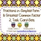 Fraction Concepts are not complete unless you know how to simplify and find the common factor is needed to do that!    2 sets of cards help you ass...