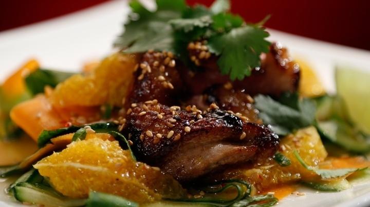 Crispy Duck with Asian Salad