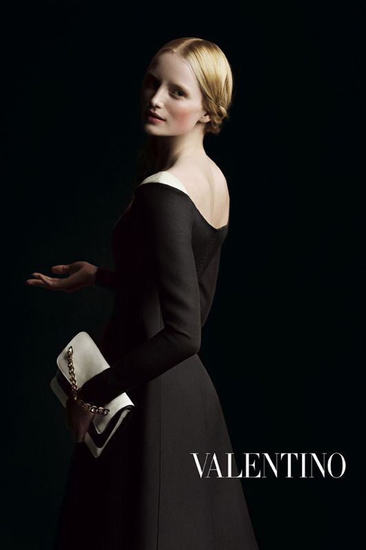 Taken from the Valentino Fall 2013 advertising campaign. Photo: Inez and Vinoodh. Reminds me of 17th century Dutch painting.