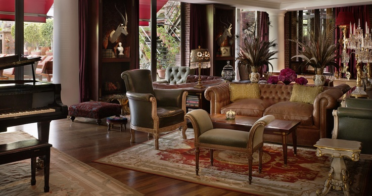 Ideas for the downstairs dig out - Bondi.  We sat in this this room in BuenosAires; rather opulent.