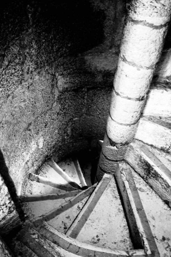 Photograph Black and White Portuguese Spiral Staircase by HenaTayebPhotography, $15.00