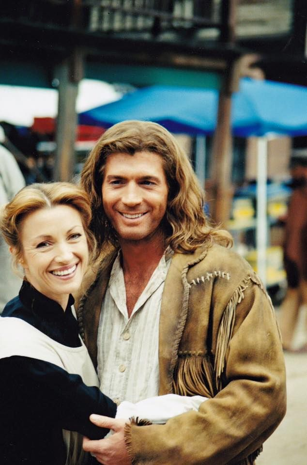 Jane and Joe - On the set of Dr. Quinn Medicine Woman