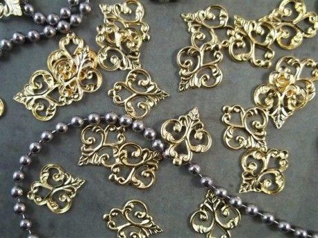 Gold Metal Filigree Embellishments (#558-G)– ButterBeeScraps.com