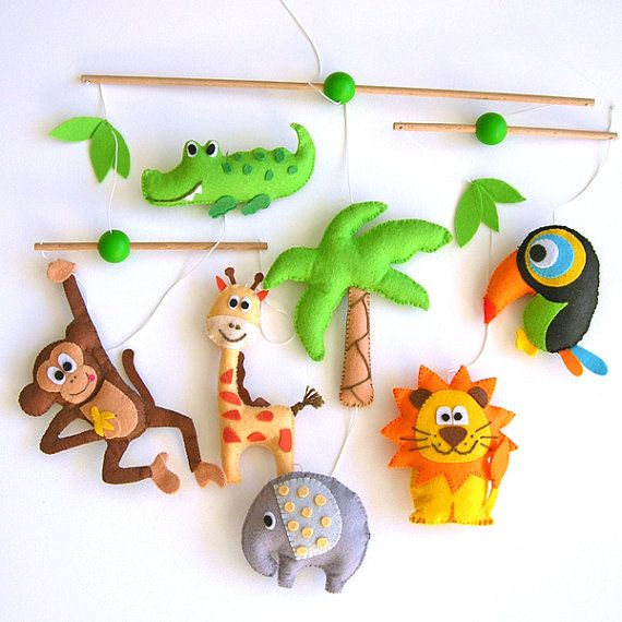Lovely and Poetic Jungle Safari Baby Crib Deco by Lovelygiftforkid