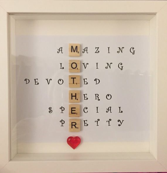 Spezielle Scrabble Mutter Mama Frame Caring Words Perfekte