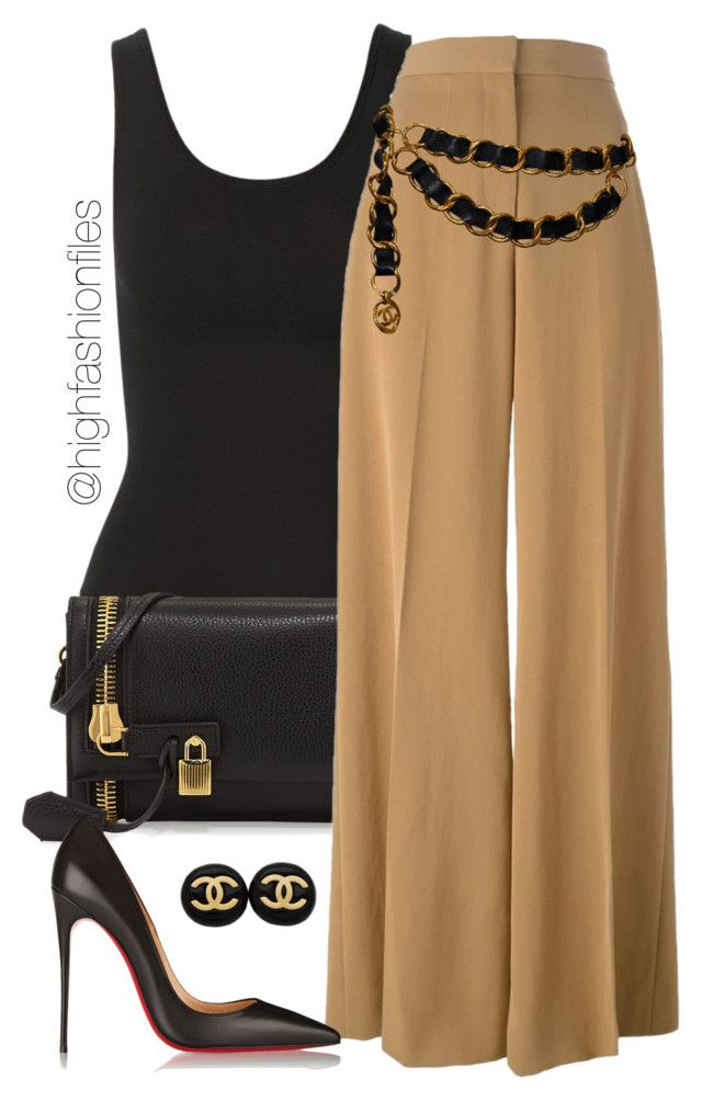 """""""No Slack ;)"""" by highfashionfiles ❤ liked on Polyvore featuring Yummie by Heather Thomson, Tom Ford, STELLA McCARTNEY, Chanel and Christian Louboutin"""