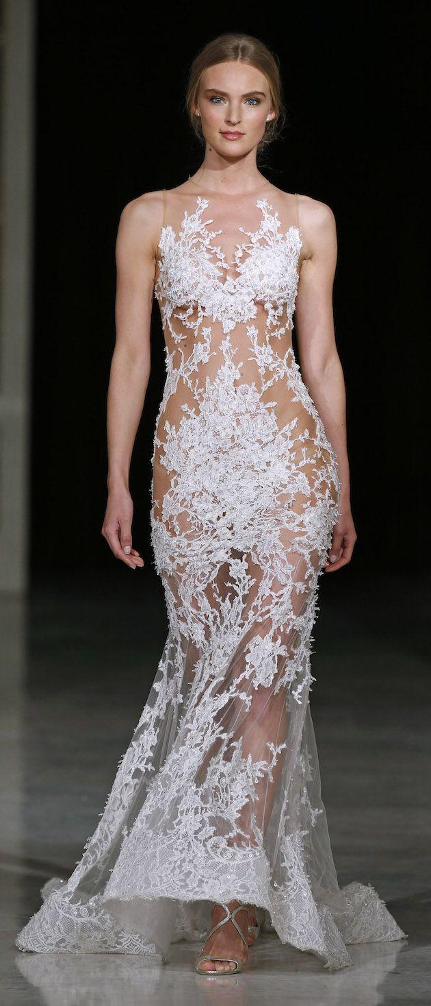 119 best Bridal Fashion Week images on Pinterest   Wedding frocks ...