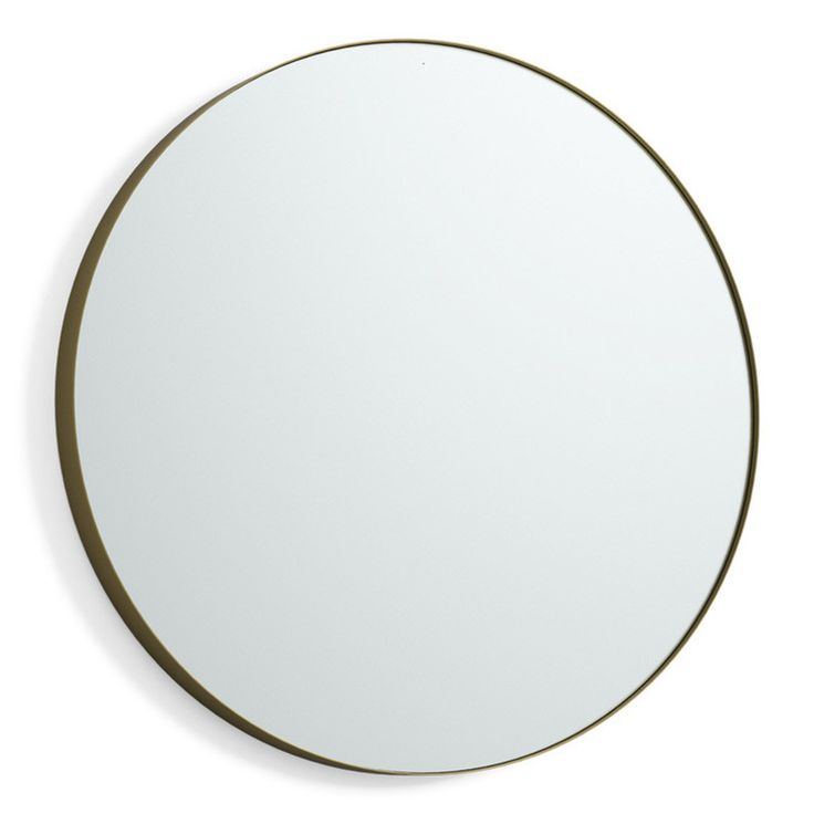 En rund spegel utan belysning från Svedbergs Teknisk information Ø(cm): 60 Djup(cm): 5 Färg: Guld matt