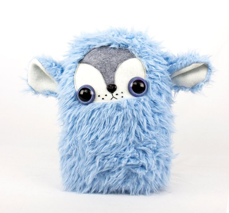 Fluffy Blue Cloud Stuffed Animal Plushie by CoolCritters on Etsy