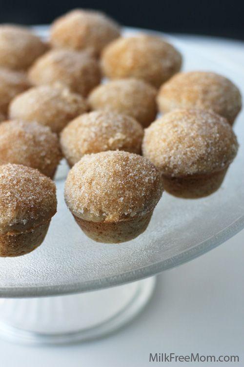 Milk Free Mom » Cinnamon Sugar Mini Donut Muffins No dairy or eggs. Change flour
