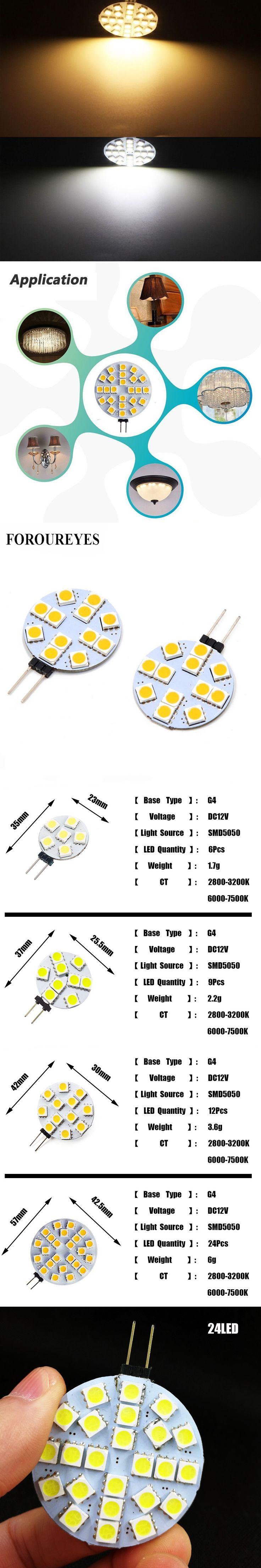 G4 LED Round Range Hood Bulb 12v SMD5050 6/9/12/24 leds Car-styling LED Boat Light White / Warm White Bulb Lamp High brightness