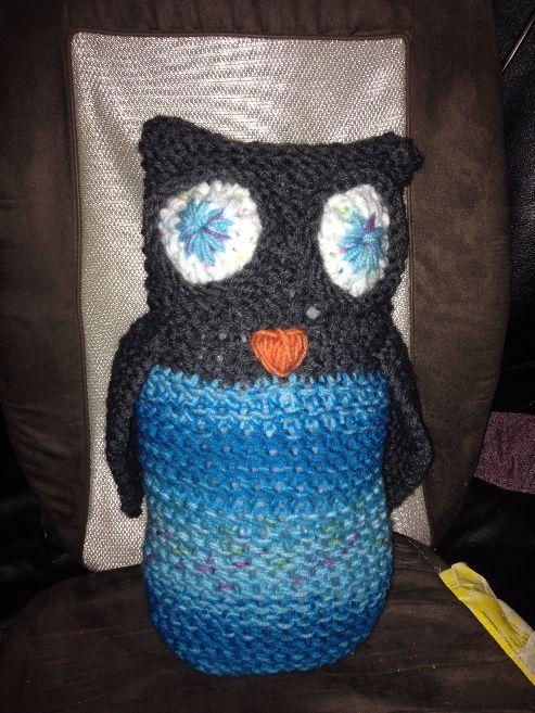 Loomed owl by Jan Gray