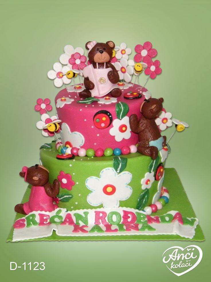 Birthday Cakes For Girls Za ~ Torta za devocice sa medama anci kolaci birthday cakes pinterest and cake