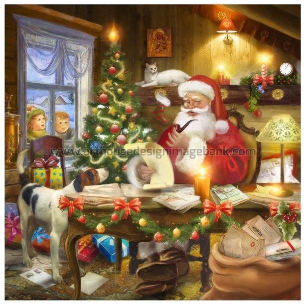 Santa in workshop