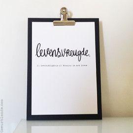 Levensvreugde Woord Pronk Plankje by Coeurblonde