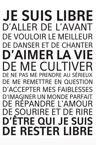 Vente Stickers / 19299 / Musique et lettrage / Sticker Je suis libre Noir