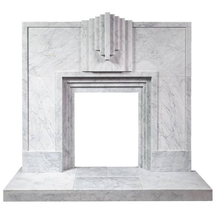 Ryan and Smith Mackintosh, Art Deco Style Carrara Marble Fireplace