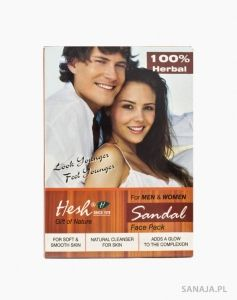 Sandałowa maseczka do twarzy dla kobiet i mężczyzn Hesh