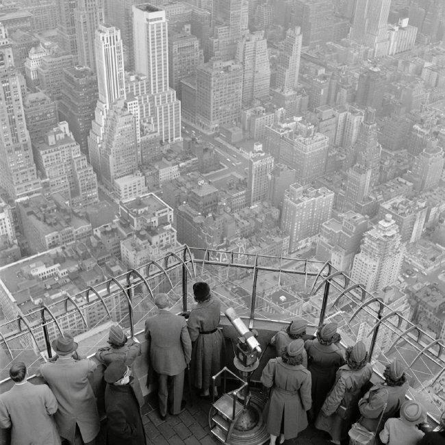 Observatorio del Empire State en el piso 86. 1950