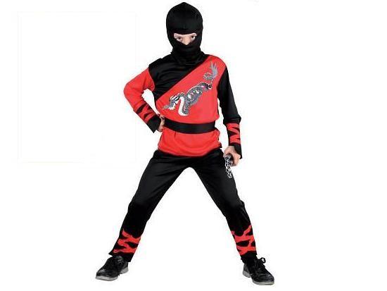 Karnevalový kostým Ninja, červený, M - Casallia