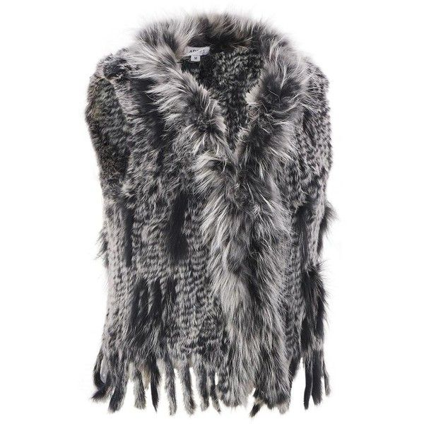 Wilsons Leather Black Snow Top Shade Fur Vest ($300) ❤ liked on Polyvore featuring outerwear, vests, jackets, plus size, plus size womens vest, wilsons leather, holiday vest, vest waistcoat and pattern vest