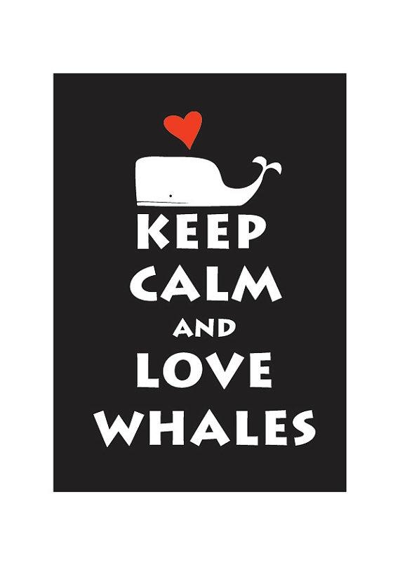 Love Whales--cute for nautical nursery